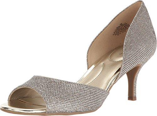 Bandolino Women's Nubilla Pump, Gold Glamour, 7.5 M US (Bandolino Leather Heels)