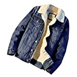 Men's Classic  Rugged Sherpa Lined Denim Trucker Jacket