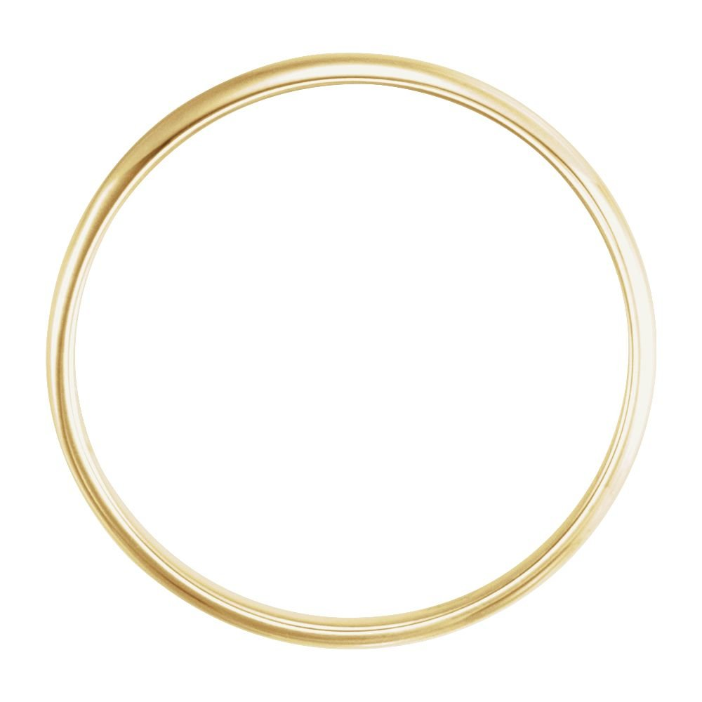 14K Yellow Gold Youth Band Size 3