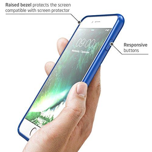 Funda iPhone 8 Plus, [Resistente a los arañazos] i-Blason Clear [Halo Series] para Apple iPhone 8 Plus Cover 2017 transparente/azul