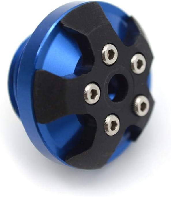 Color : Blue Moto CNC moteur magn/étique huile Bouchon de remplissage for TRIUMPH DAYTONA CHENWEI