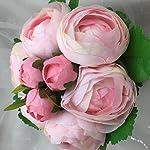 Lily-Garden-105-Silk-Camellia-Bouquet-Wedding-Decor-Flowers-All-pink