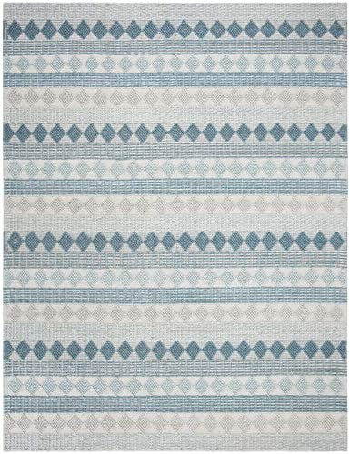 Safavieh Natura Collection NAT252M Hand-Woven Wool Area Rug, 6 x 6 Square, Blue Ivory