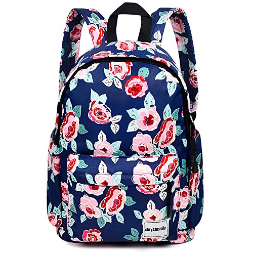 (Fashion Nylon Backpack For Women School Floral Travel Backpack Purse 15.6 inch Laptop Bag For Teens College - Flower)