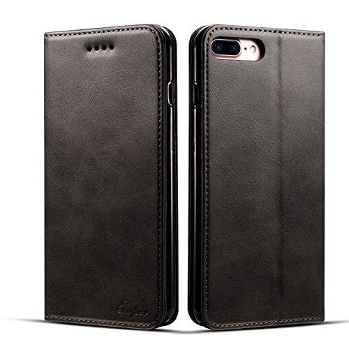 iPhone 7 Plus&8 Plus 5.5inch Wallet case FLYERI Leather Case Flip Folio Book Case Wallet Cover with Kickstand Feature Card Slots & ID Holder and Magnetic Closure for iPhone 7 Plus&8 Plus 5.5inch (2) ()