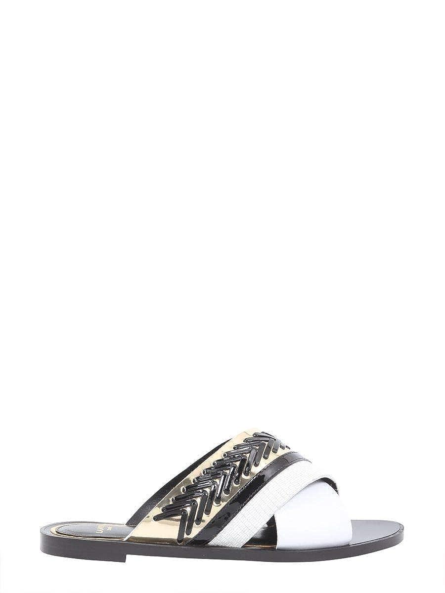 - Lanvin Women's FWSAPS08ELTH0110 White Leather Sandals