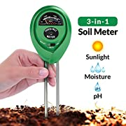 #LightningDeal 71% claimed: Soil pH Meter, 3-in-1 Soil Test Kit For Moisture, Light & pH, A Must Have For Home And Garden, Lawn, Farm, Plants, Herbs & Gardening Tools, Indoor/Outdoors Plant Care Soil Tester (No Battery Needed)