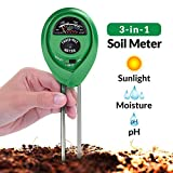 Soil pH Meter, 3-in-1 Soil Test Kit For Moisture, Light & pH, A Must Have For Home And Garden,...