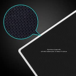 HAVIT Aluminum Gaming Mouse Pad with Anti-Skid Rubber Base - Silver (HV-MP835)