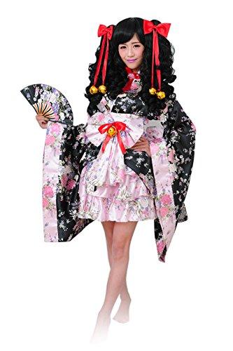 Women-Japanese-Lolita-Kimono-Cosplay-Sakura-Printed-Anime-Costume