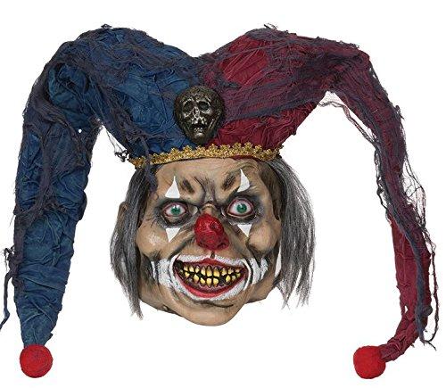 Bristol Novelty BM470 Deranged Jester Mask, One Size