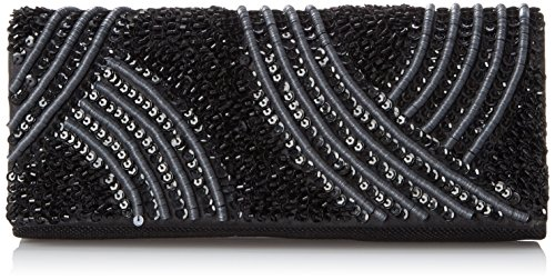 Handbag La Regale Beaded (La Regale Tribal Matte and Shine Clutch, Black, One Size)