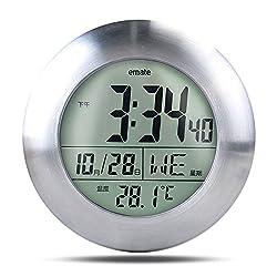 CAROMIO Multi-functional Waterproof Temperature Digital Clock for Bathroom Shower Kitchen Living Room