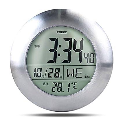 Zantec Reloj digital, Multifuncional a prueba de agua reloj digital de temperatura para cuarto de