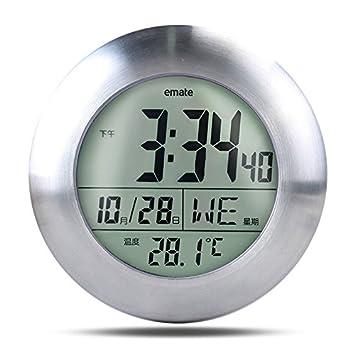 zantec relojes reloj de pared Casa Cocina Reloj Digital Multifuncional a temperatura impermeable para el salón de la cocina de la ducha del baño regalo: ...