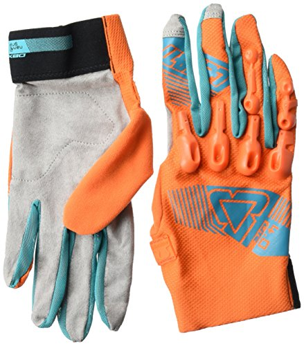 (Leatt DBX 4.0 Lite Adult BMX Bike Gloves - Orange/Teal/X-Large )