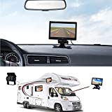 Camecho RC 12V 24V Car Vehicle Rear View Wireless IR Night Vision Backup Camera Waterproof Kit + 7 TFT LCD Monitor Parking Assistance System For Truck / Van / Caravan / Trailers / Camper