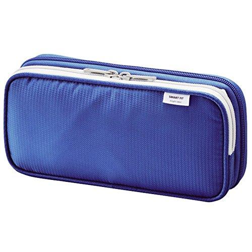 - LIHIT LAB. Double Pen Case L size, Blue, 4.1 x 8.7
