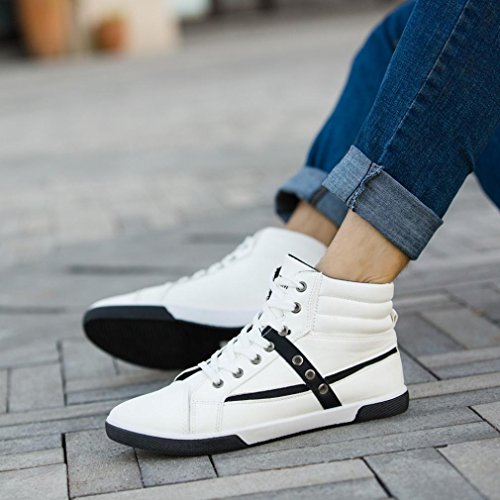 Clearance❤️Men Shoes, Neartime Fashion Men Autumn Leather Footwear Boots High Top Lace-Up Casual Hiking Shoes by Neartime Sandals (Image #4)