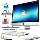 Apple iMac MK442LL/A 21.5'' LED Display Desktop Computer AppleCare Bundle: Includes Apple Magic Keyboard (MLA22LL/A) & Magic Mouse 2 (MLA02LL/A) and more...