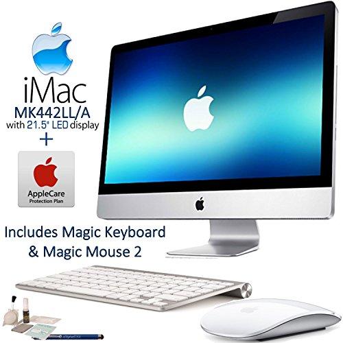 Apple iMac MK442LL/A 21.5'' LED Display Desktop Computer AppleCare Bundle: Includes Apple Magic Keyboard (MLA22LL/A) & Magic Mouse 2 (MLA02LL/A) and more... by Applecare