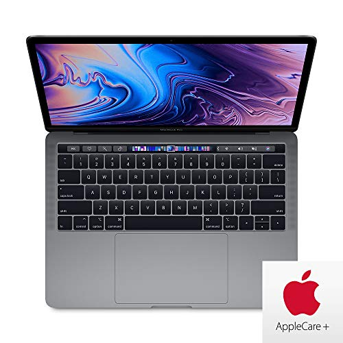 Apple MacBook Pro 13-inch Z0WQ0003K w/ AppleCare+ (Upgraded from MV962LL/A): 2.8GHz Quad-core 8th-Gen Core i7, 256GB, 16GB RAM - Space Gray (Mid 2019) ()