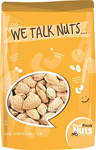 Natural In Shell Almonds BRAND NEW PRODUCT by Farm Fresh Nuts (2 LB)