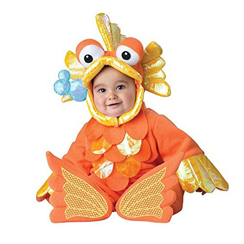 Bowith Boys Girls Baby Rompers Babygrow Christmas Xmas Outfit Animal Infant Toddler Costume Goldfish 9M (Infant Goldfish Costume)
