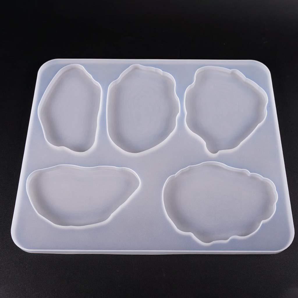 manualidades cristal moldes de resina epoxi LAOJIA bricolaje Juego de moldes de silicona para posavasos pegamento UV tapete de resina