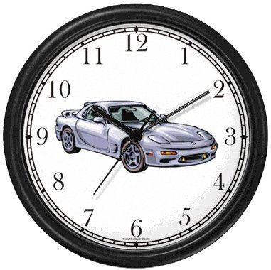 Amazon.com: Vintage Silver Sports Car Wall Clock by WatchBuddy ...