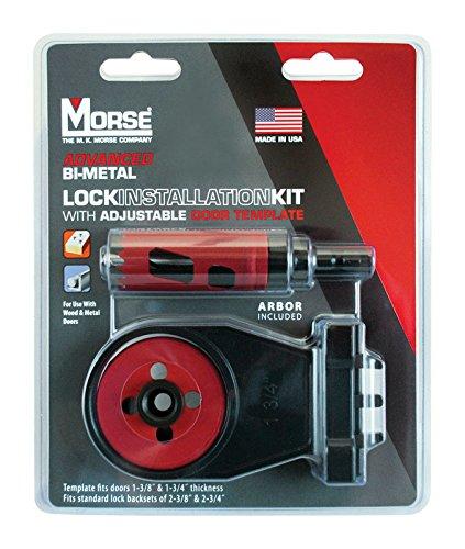 MK Morse TACLKIT1 Real McCoy Bi-Metal Hole Saw Lock Installation Kit