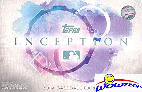 2019 Topps INCEPTION Baseball Factory Sealed HOBBY Box with AUTOGRAPH,2 Parallels & 4 Base Cards! Look for AUTOS of Mike Trout, Michael Kopech, Shohei Ohtani, Aaron Judge, Juan Soto & More! WOWZZER! (Cards Autograph Baseball)