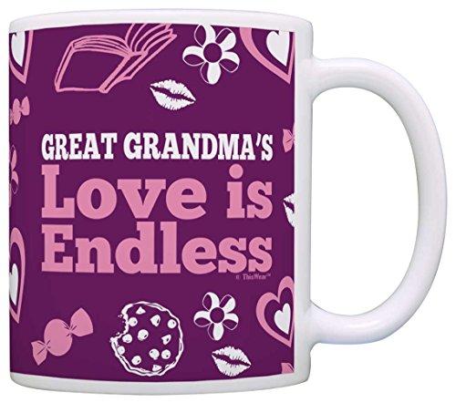 Mothers Grandmas Endless Coffee Purple