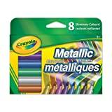 Crayola Metallic Markers, Adult Colouring, Bullet Journaling, School and Craft Supplies, Drawing Gift for Boys and Girls, Kids, Teens Ages  5, 6,7, 8 and Up, Holiday Toys, Stocking Stuffers, Arts and Crafts