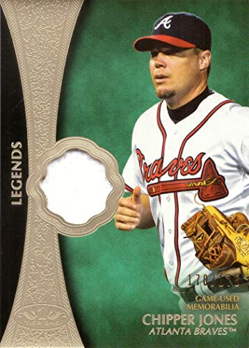 2019 Topps Tier One Legends Relics #T1LR-CJ Chipper Jones Game Worn Braves Jersey Baseball Card - Only 175 made!