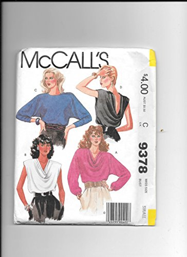 - Sewing Pattern Mccalls 9378, Misses Small Bias CUT Front or Back, Draped Pullover Blouse Options