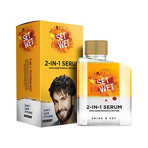Set Wet 2-in-1 Daily Serum For Men,Set & Shine,Pollution Protect,Natural Shine, Bottle 100 ml