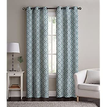 2 Pack: Alexander Energy Saving Hotel Quality Grommet Blackout Curtains    Assorted Colors (Blue/Teal)