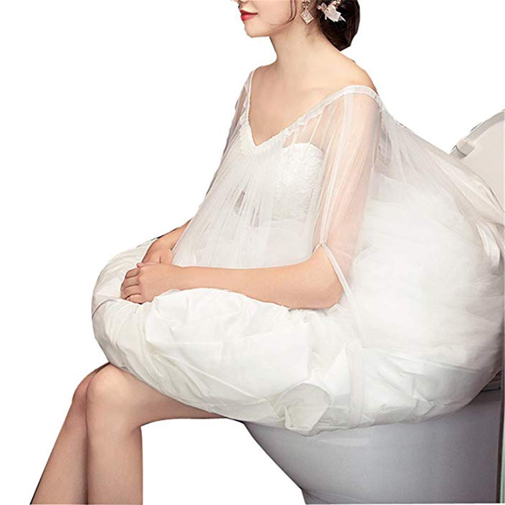XYDS White Wedding Dress Petticoat Underskirt Save You from Toilet Water Bridal Accessories (White)
