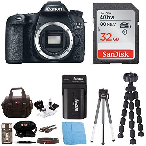 Canon EOS 70D 20.2 MP Digital SLR Camera w/ Dual Pixel CM...