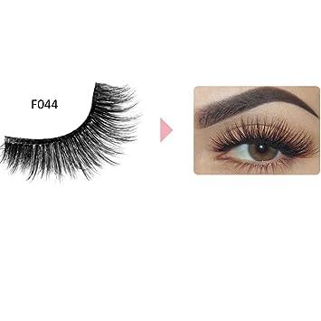 Amazon.com: exteren maquillaje 3d Natural largas pestañas de ...