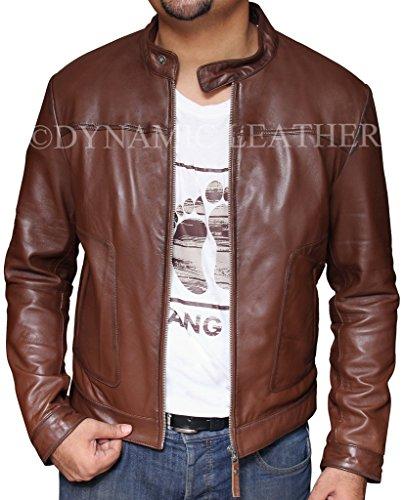 Men's New Biker Hunt Brown Motorcycle Brown Real Leather ...