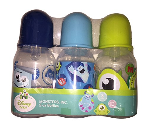 Disney Monsters Inc. 5 oz - 3 Pack of Baby Bottles (Baby Monsters Inc)