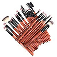 Anjou Makeup Brushes, 24 Pieces Professional Eye Makeup Cosmetics Brush Set, Eyeliner, Eye Shadow, Eye Brow, Foundation, Powder Liquid Cream Blending Brush, Premium Wooden Handles