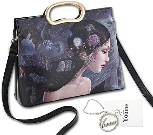 Yoome Casual Large Capacity Printing Rivets Street Style Bags Large Satchel Handbags For Women