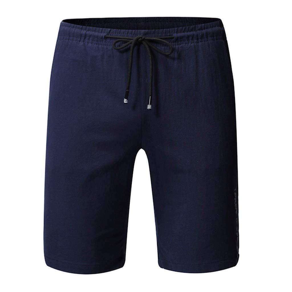 LEERYAAY Cargo/&Chinos Men Summer Solid Trunks Quick Dry Beach Surfing Running Drawstring Short Pant