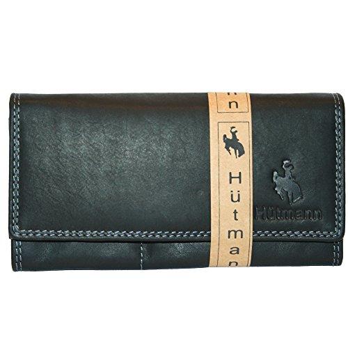 Neue XL Geldbörse Leder Damen Frauen Weihnachtsgeschenk Portemonnaie Geldbeutel Qualität Hütmann schwarz NEU bJZTXvfFZg
