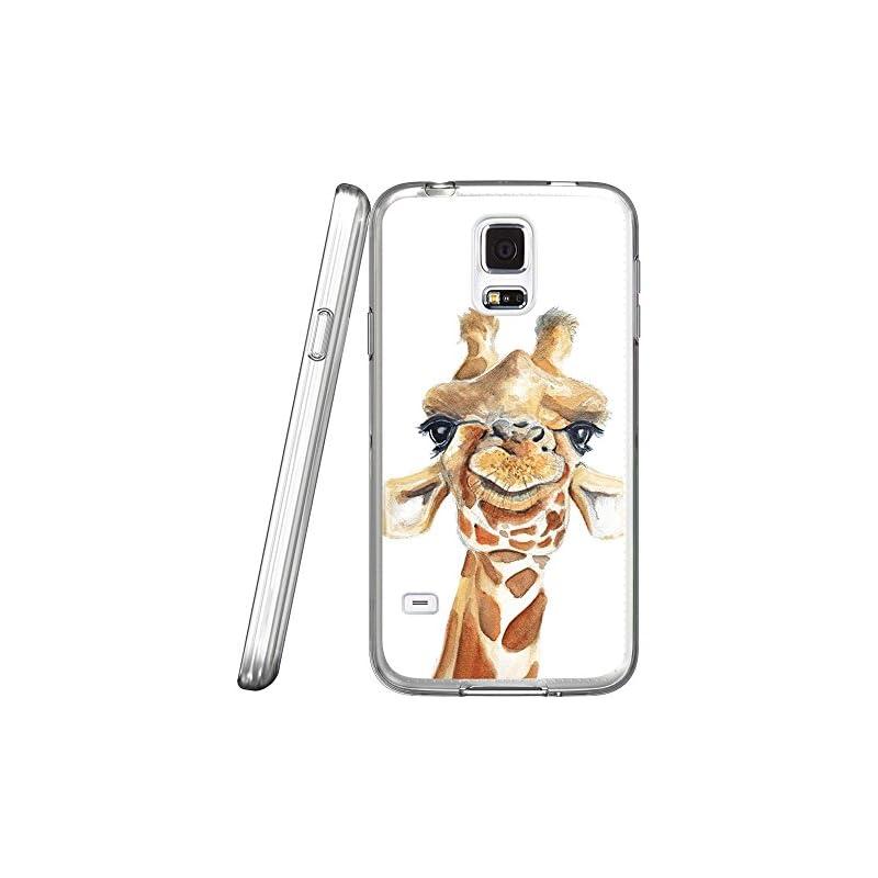S5 Case Cartoon Giraffe, LAACO Scratch R