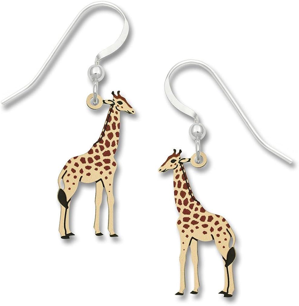 Giraffe Dangling Drop Charm Earrings