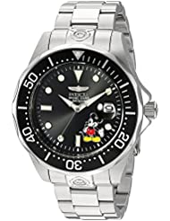 Invicta Mens Disney Limited Edition Automatic Stainless Steel Diving Watch, Color:Silver-Toned (Model: 24496)